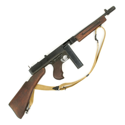 Original U.S. WWII Thompson M1928A1 Display Submachine Gun Original Items