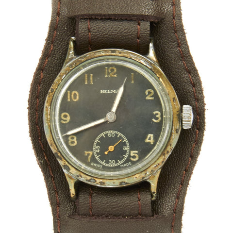 Original German WWII Wehrmacht D-H Watch by Helma - Fully Functional