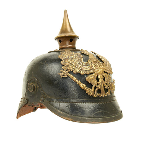 Original German WWI Prussian M1915 Pickelhaube Spiked Helmet Original Items