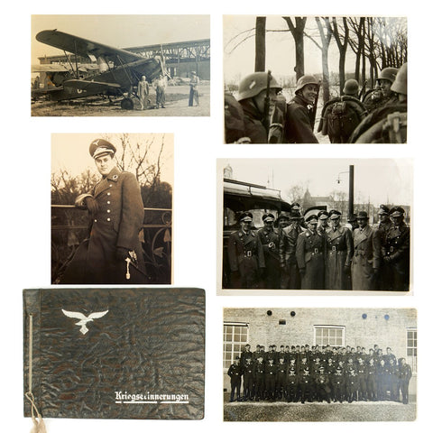 Original German WWII Luftwaffe Officer Photo Album - Excellent Condition