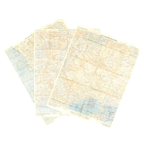 Original U.S. WWII Army Air Force Silk Escape Maps - Asiatic Series No 30-35 - Dated 1942-43 Original Items