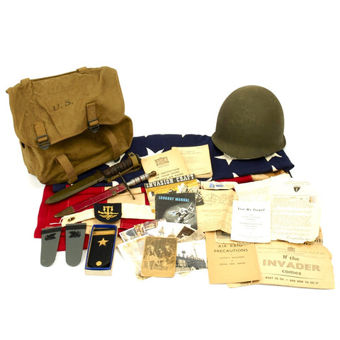 Original U.S. WWII Operation Overlord Assault Landing Craft Technician Named Grouping