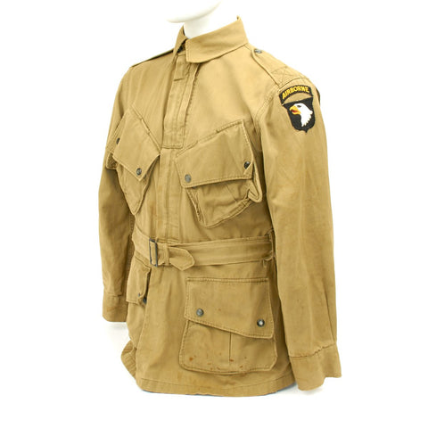 Original U.S. WWII 101st Airborne M1942 Paratrooper Jacket Original Items