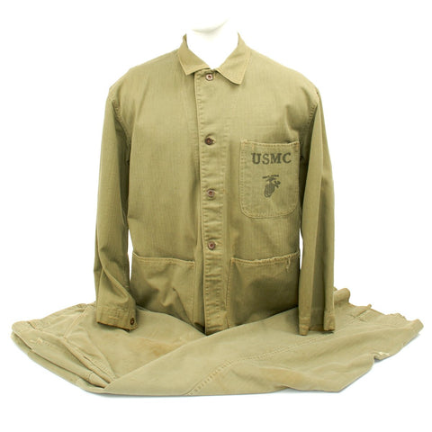 Original U.S. WWII USMC Battle of Iwo Jima Named P41 Utility Combat Uniform