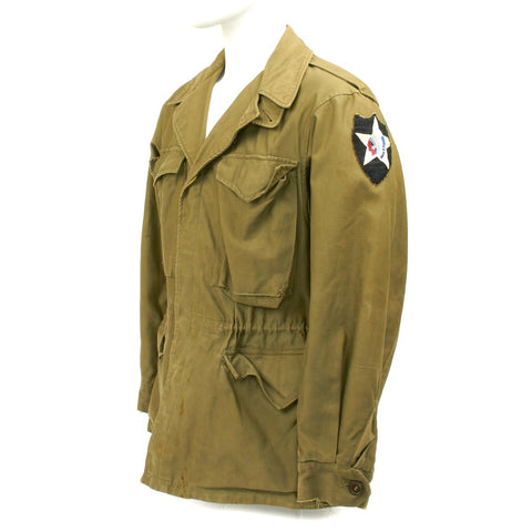 Original U.S. WWII 2nd Infantry Division M1943 Field Jacket Original Items