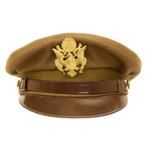 Original U.S. WWII USAAF Named Officer Crush Cap by Miltar - Genuine Fur Felt Original Items