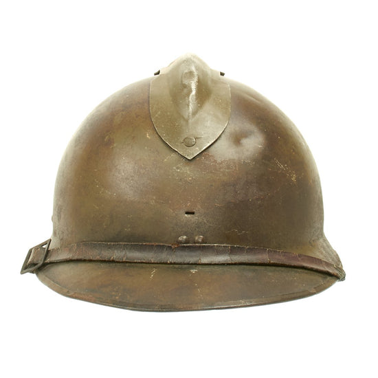 Original French WWII M1926 Adrian Infantry Helmet - Olive Green