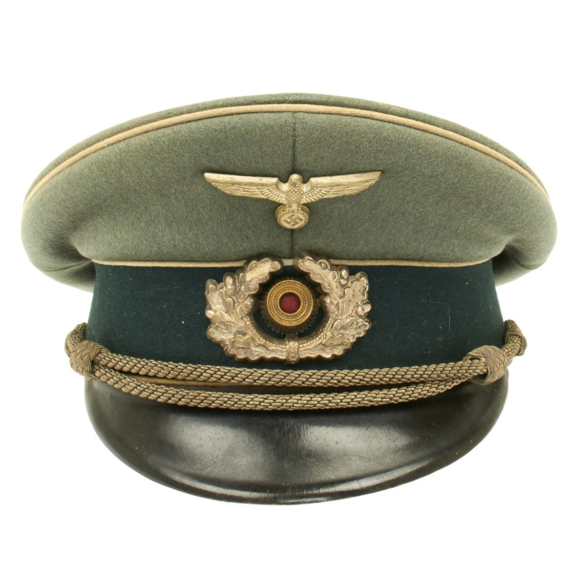1df2531953c Prev · Original German WWII Army Heer Officer Visor Cap - Maker Marked. Tap  to expand