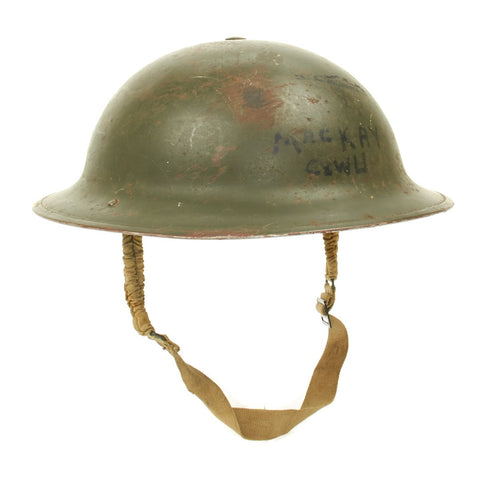 Original Canadian WWII Named 1941 MkI Brodie Helmet by General Steel Wares of Toronto