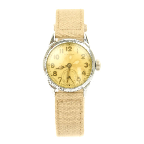 Original U.S. WWII Army Model 987A Wrist Watch by Hamilton - Officer Grade - Fully Functional Original Items