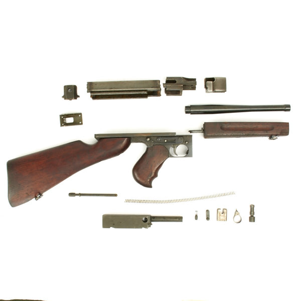 Original U S  WWII Thompson M1 SMG Parts Set with Barrel and Demilled  Receiver