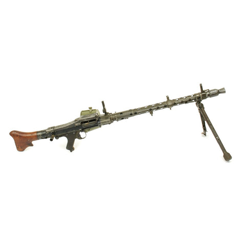 German German WWII MG 34 Display Machine Gun - marked dot 1945 with Basket Carrier