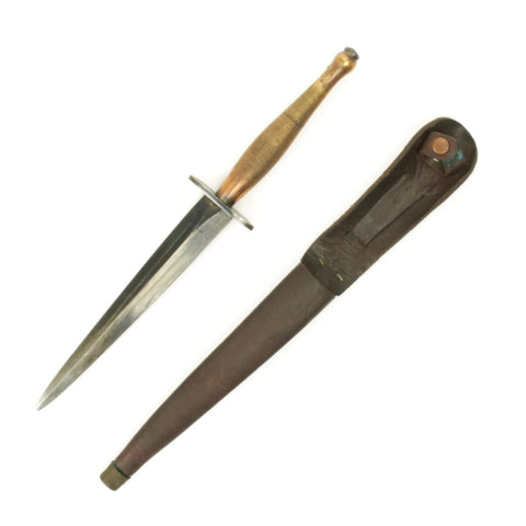Original British WWII Second Pattern Fairbairn-Sykes Fighting Knife by Wilkinson - Broad Arrow B2 Original Items