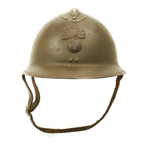 Original French WWII Model 1926 Adrian Infantry Helmet with RF Badge