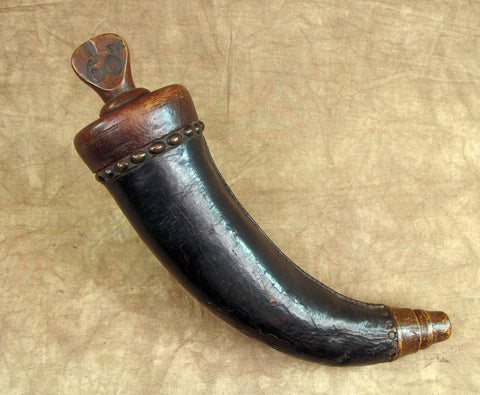Original 18th Century Gunner Powder Horn marked to 60th Regiment Original Items