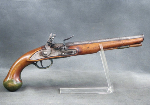 Original 1746 Dated British Sea Service Flintlock Pistol by Farmer