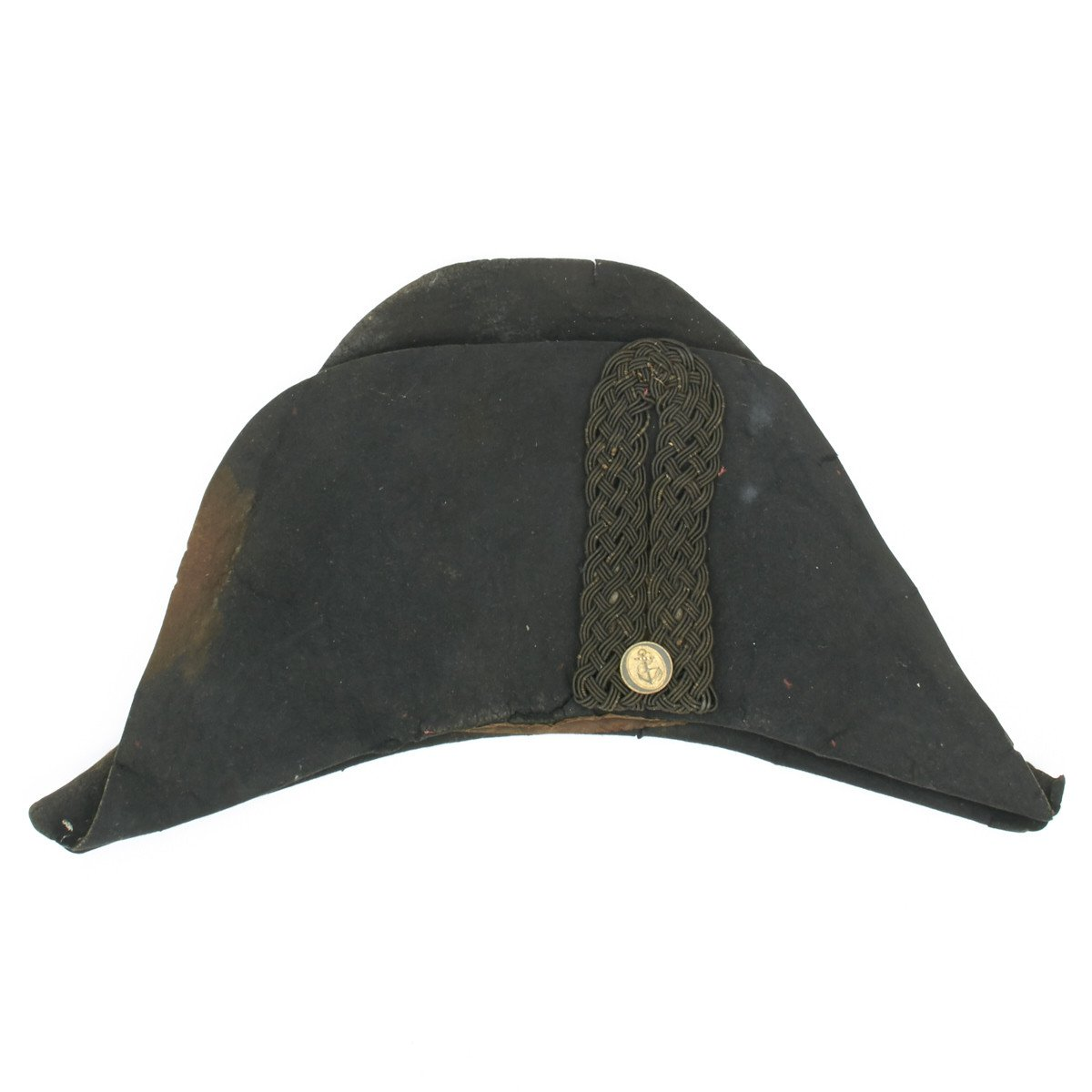 550538687a0 Original 18th Century British Royal Naval Officer Collection- Bicorn Hat  with Will Dated 1783