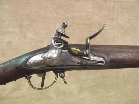 Original French M-1777 Brass Mounted Naval Flintlock Musket by Tulle Arsenal Original Items