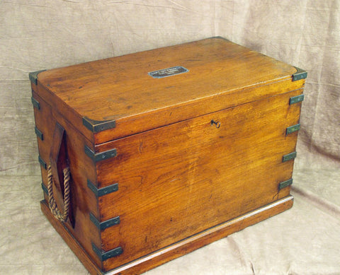 Original British Naval Named Captains Chest from the H.M.S. SIRIUS, Dated 1802