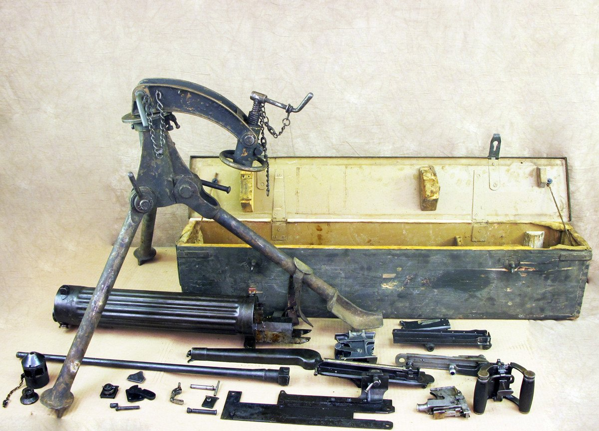 Original Nepalese Contract Vickers Gun Parts Set with Colt Tripod- Serial  No 7