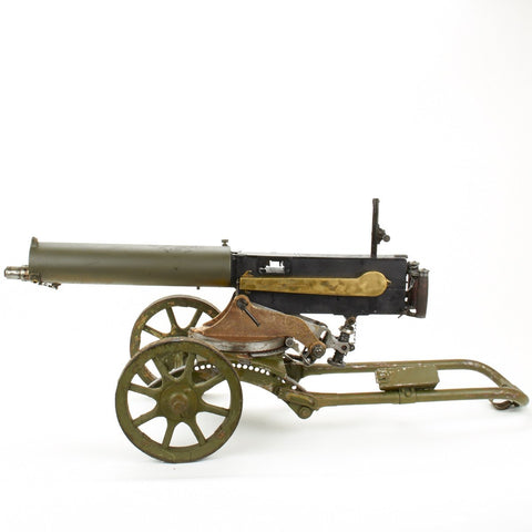 Russian WWI Imperial Maxim Display Gun on 1911 Dated Early Sokolov Wheeled Mount