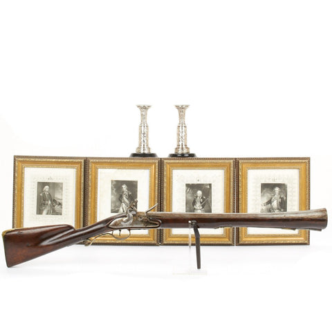 Original 1798 Battle of the Nile Set- French Blunderbuss, British Naval Candlesticks and Prints Original Items