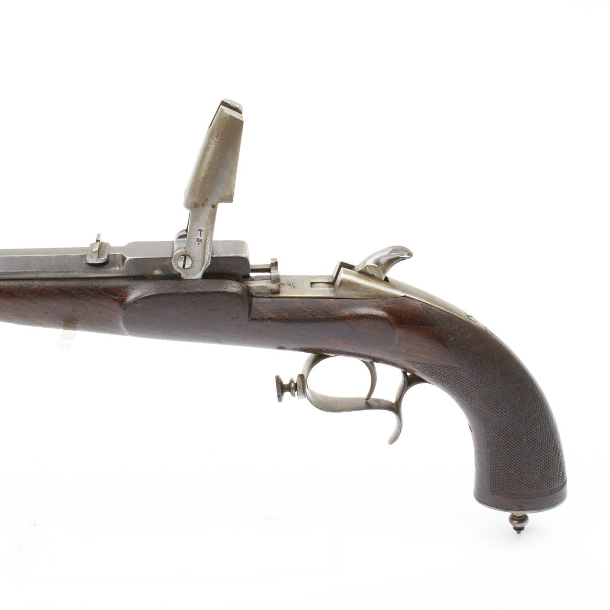 Original Flobert System Single Shot Target Pistol- Circa 1870