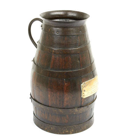 Original British Napoleonic Wars Dutch Warship Grog Bucket Prize - Dated 1806