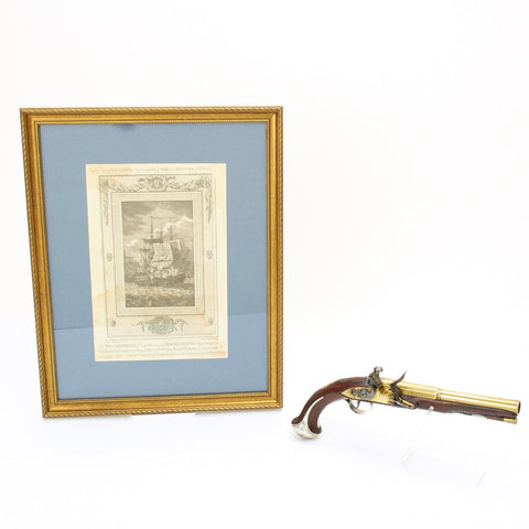 Original British 1777 Flintlock Pistol Inscribed CAPT R.PEARSON R.N. (Battle of Flamborough Head)
