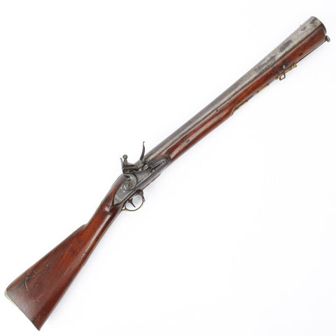 Original British Iron Barrel Flintlock Blunderbuss by H.W. Mortimer