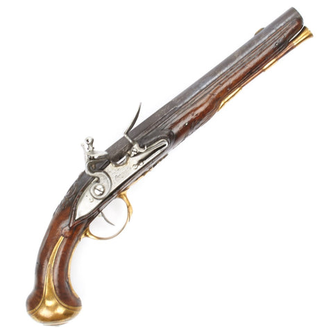 Original French Flintlock Officer Pistol by Coignet Dating from the French and Indian Wars
