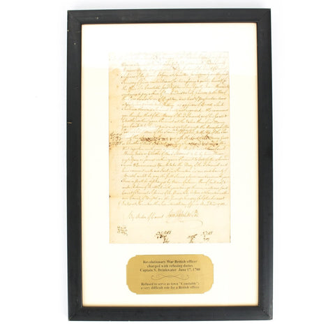Original British Sea Captain American Revolutionary War Document from Massachusetts Dated 1780