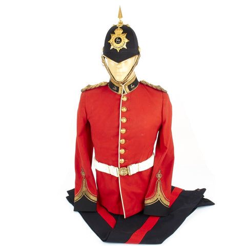 Original British Royal Warwickshire Regimental Uniform Set with Blue Cloth Helmet