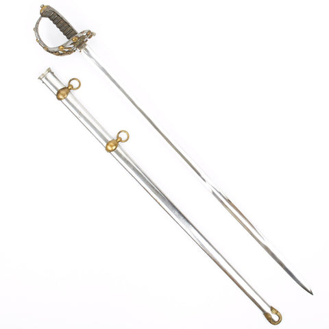 Original British Victorian Era P-1831 Life Guard Officer Sword with Scabbard by Hawkes and Company