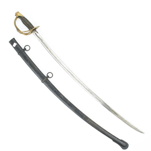 Original U.S. M1860 Light Cavalry Sword with Scabbard- Dated 1864