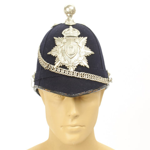 Original WWI British City of Portsmouth Bobby Police Helmet- Dated 1914