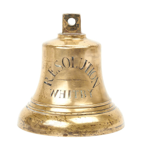 Original Brass Whaling Ship Bell from the Resolution Circa 1810
