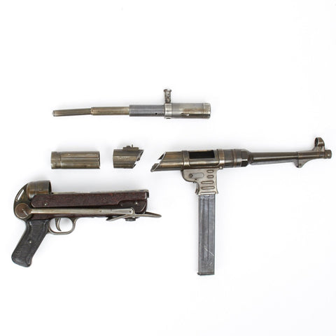 Original German WWII MP 40 Part Set with Live Barrel- Dated 1943