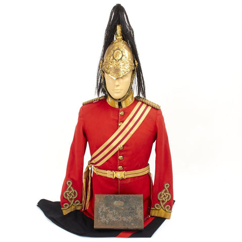 Original British Carbineers Officer Uniform Set with Victorian Era Helmet