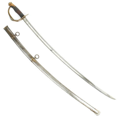Original U.S. Civil War Model 1860 Light Cavalry Saber with Scabbard by Ames Dated 1864 Original Items