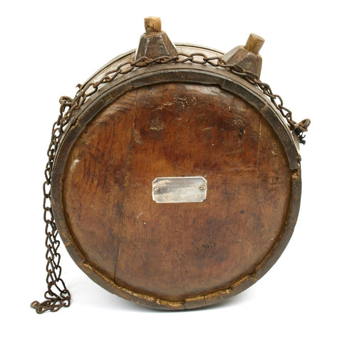 Original Zulu War Boer-style Wooden Canteen Recovered from the Battle of Isandlwana Original Items