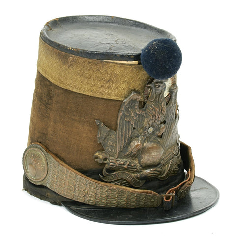 Original French Grenadier Officer Pattern 1818 Shako Helmet- Dated 1834 Original Items