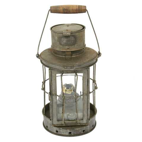 Original British WWI Trench Lantern- Maker Marked and Dated 1916