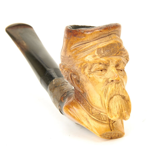 Original U.S. Civil War Era Hand Carved Bone Pipe