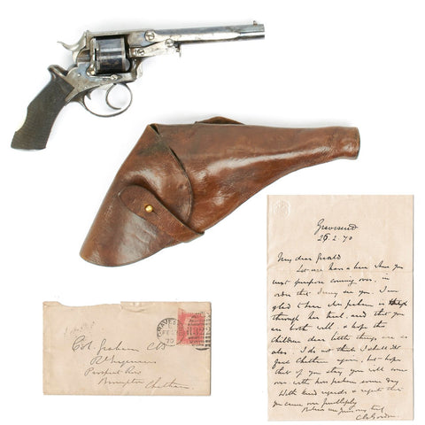 Original British Military Cartridge Revolver with Holster and Letter- Named to Brigadier General Gerald Graham, VC, Dated 1882
