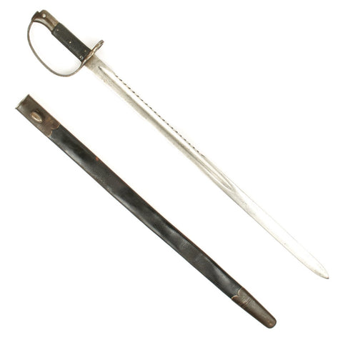 Original British P-1879 Martini-Henry Saw Back Sword Bayonet with Scabbard