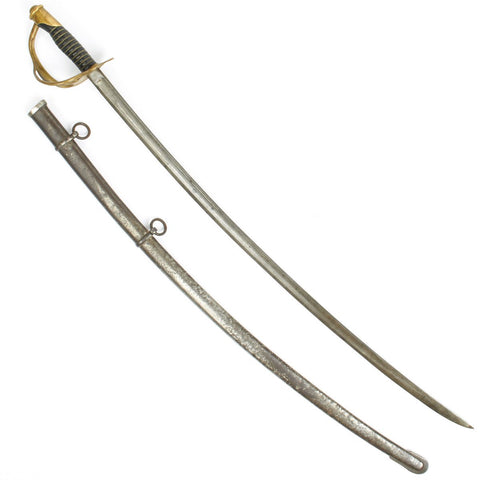 Original U.S. Civil War Model 1860 Light Cavalry Saber with Scabbard by Mansfield and Lamb