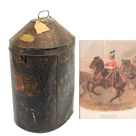 Original British Royal Dragoons Named Officer Helmet Chest - Circa 1930