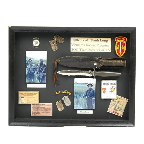 Original U.S. Vietnam War Kit Carson Scout Phoenix Program Personal Named Set