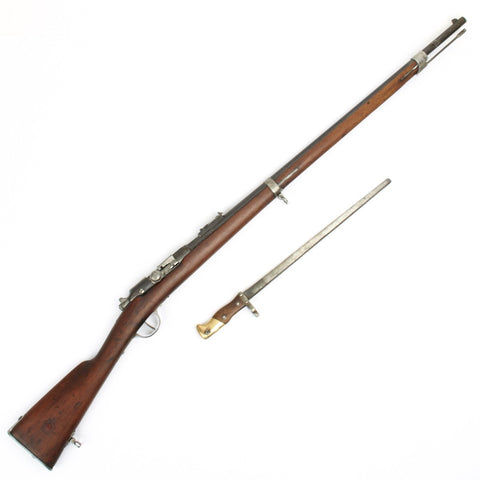 Original French M1874 Gras 11mm Infantry Rifle with Practice Bayonet